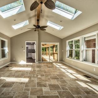 Sunroom with Skylights