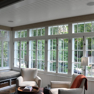Sunroom with Speakers and Automatic Shades