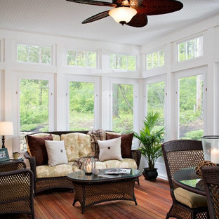 Sunroom with Stone Patio and Composite Deck