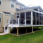 Trex Decking With Screened Enclosure Exterior