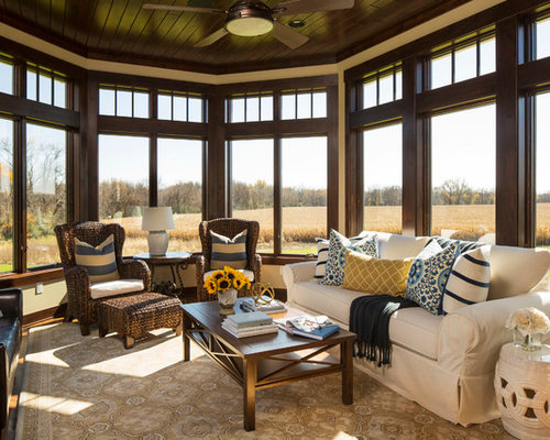 Mid Sized Modern Armchair Sunroom Design Ideas