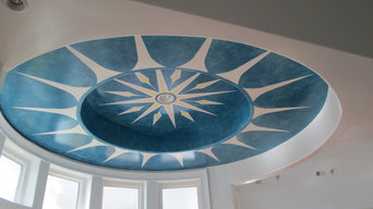 Three dimensional ceiling mural