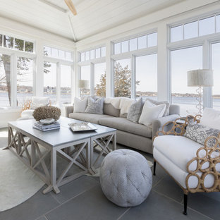 Transitional shingle style waterfront