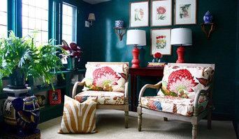 Tropical Hollywood Regency Sitting Room