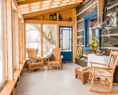 Log sunroom ideas pictures remodel and decor for Log home sunrooms