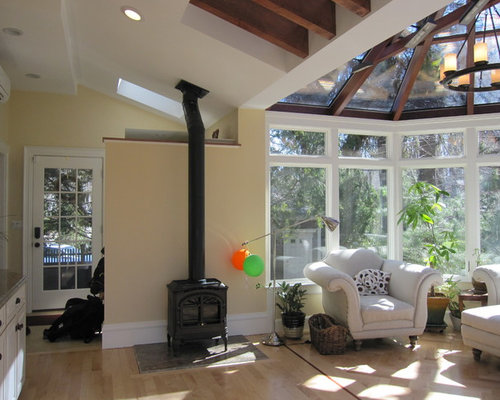 Best Large Sunroom With A Wood Stove Design Ideas