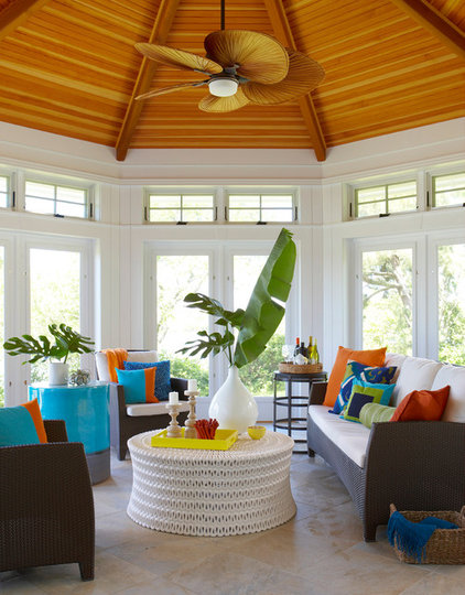 Beach Style Sunroom by Rachel Reider Interiors