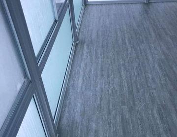 Vinyl flooring in heated solarium
