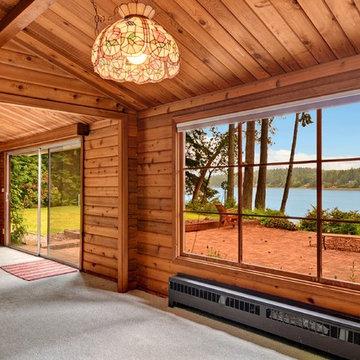 Waterfront Panabode Log Home
