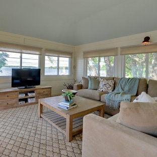 Example of a small transitional sunroom design in Minneapolis with a wood stove and a standard ceiling