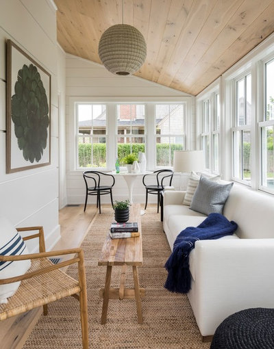 Beach Style Sunroom by Cynthia Hayes Interior Design