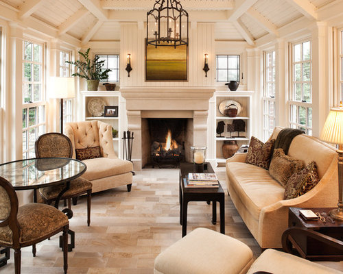 sunrooms with fireplaces home design ideas pictures remodel and decor. Black Bedroom Furniture Sets. Home Design Ideas