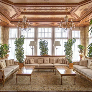 GroBartig Example Of A Large Ornate Light Wood Floor Sunroom Design In Other With A  Standard Ceiling