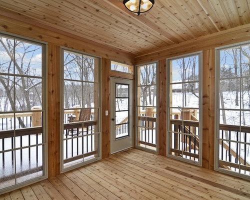 rustikaler wintergarten mit braunem holzboden ideen bilder design. Black Bedroom Furniture Sets. Home Design Ideas