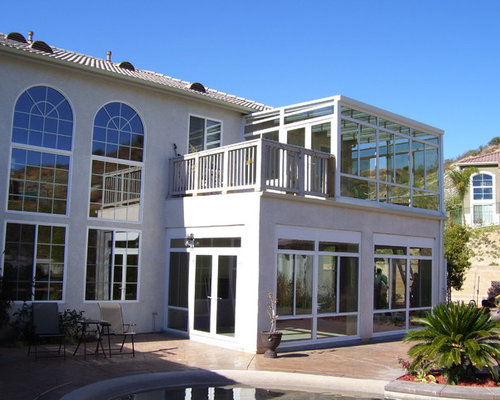 Second story sunroom houzz for Two story sunroom