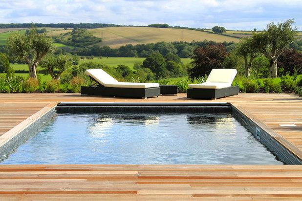Farmhouse Pool by JPS Landscape Design