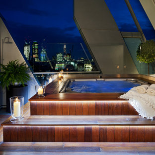 Design ideas for a contemporary roof swimming pool in London.