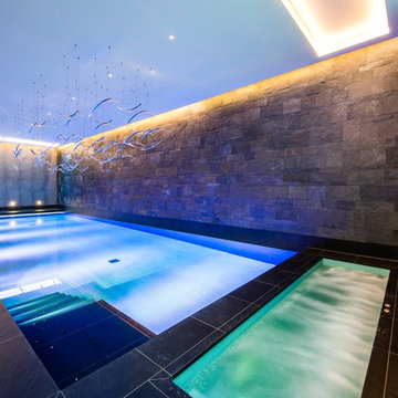 Contemporary Swimming Pool & Hot Tub