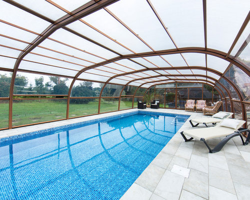 This Is An Example Of A Medium Sized Contemporary Indoor Rectangular  Lengths Swimming Pool In Dorset