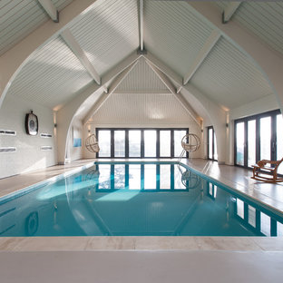 Inspiration for a scandinavian pool in London.