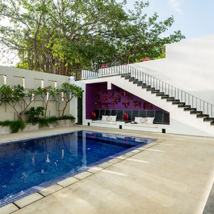 Inspiration for an eclectic pool in Mumbai.