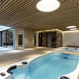 Hervorragend Hot Tub   Small Modern Indoor Rectangular Aboveground Hot Tub Idea In London
