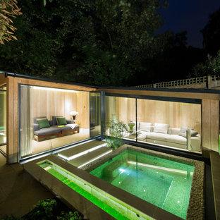 Diseño de piscinas y jacuzzis contemporáneos rectangulares
