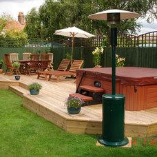 Traditional Deck by Hot Tub Barn