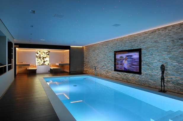 Contemporary Swimming Pool & Hot Tub by Prestige Saunas Ltd