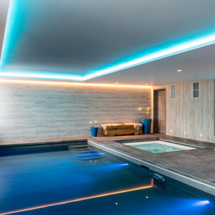 Design ideas for a modern swimming pool in Dorset.