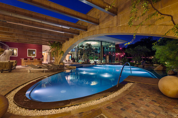 Eclectic Swimming Pool by TAO Architecture Pvt. Ltd.