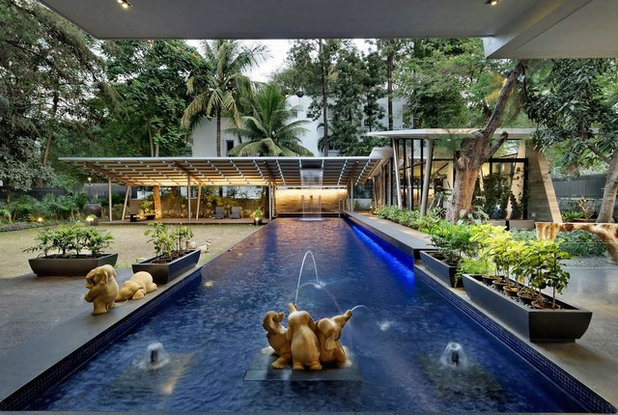 Asian Swimming Pool by TAO Architecture Pvt. Ltd.