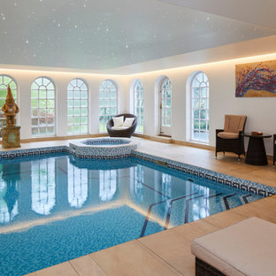 Design ideas for a classic swimming pool in London.