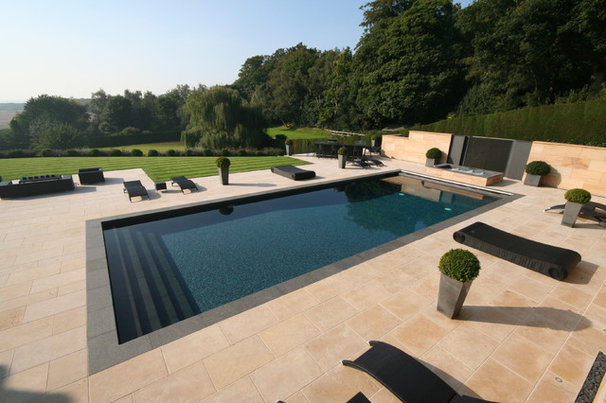 Contemporary Pool by Tanby Swimming Pools