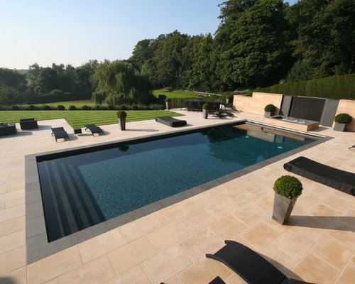 Best contemporary pool design ideas remodel pictures houzz Lap pool ideas