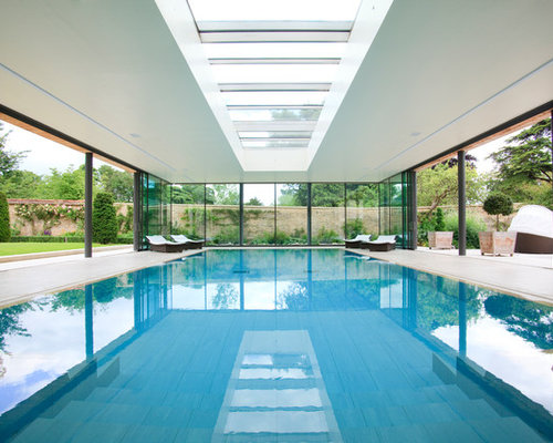 inspiration for a contemporary pool remodel in gloucestershire - Indoor Swimming Pool Design