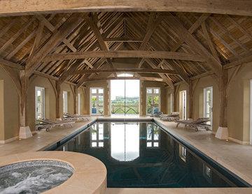 Rustic Swimming Pool & Hot Tub