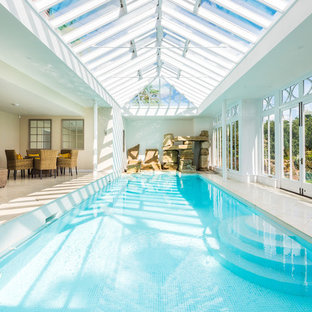 Photo of a classic indoor rectangular swimming pool in Other.