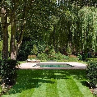 Traditional rectangular swimming pool in London.