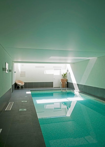 Contemporary Pool by Zone Architects