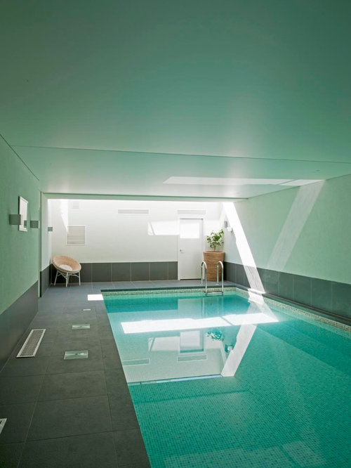 Design Ideas For A Medium Sized Contemporary Indoor Rectangular Swimming  Pool In Edinburgh With Tiled Flooring