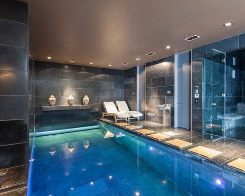 Home spa houzz for Basement swimming pool ideas