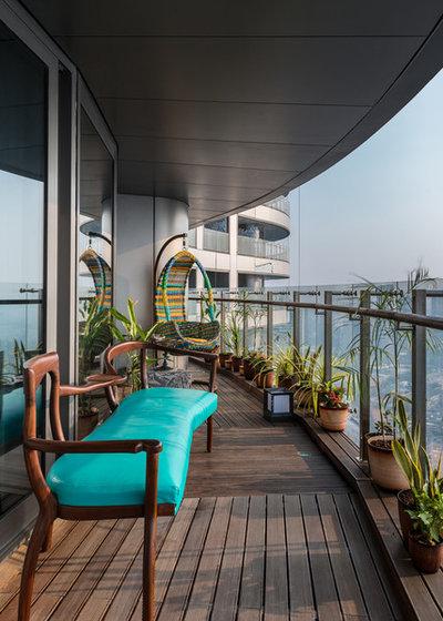 Contemporary Balcony by Studio Osmosis