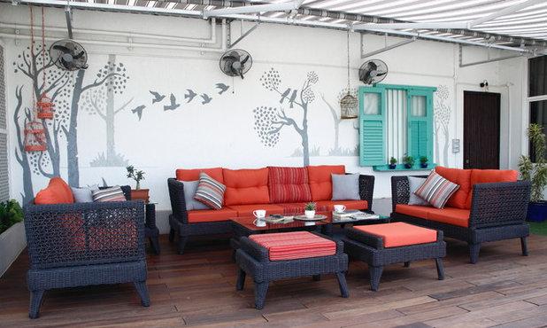 Eclectic Terrace by INC Design Studio