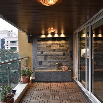 Desai's residence - living room balcony