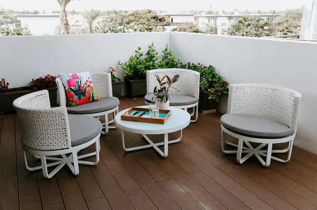 Contemporary Balcony by Shalini George Interiors