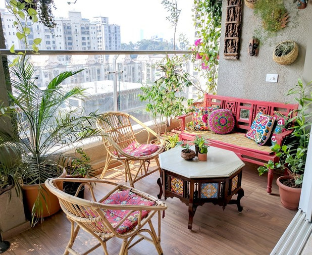 Eclectic Balcony by Ariyona Interior