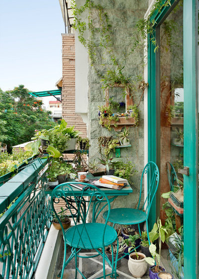 Eclectic Balcony by Mrigank Sharma Photography