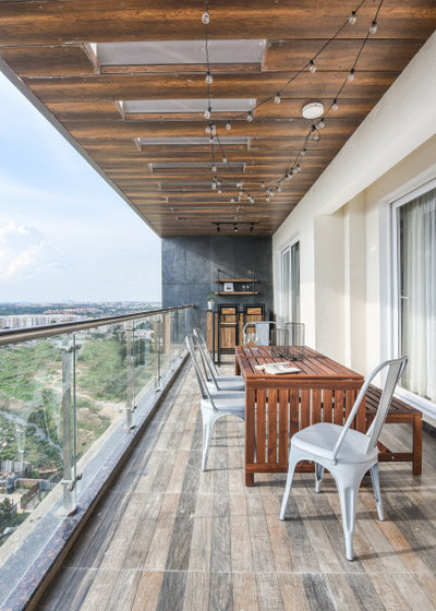 Contemporary Balcony by Sunita Yogesh Studio