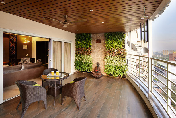 Contemporary Balcony by NIMIT ASSOCIATES